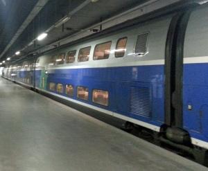 Coches de dos pisos del TGV Dasye